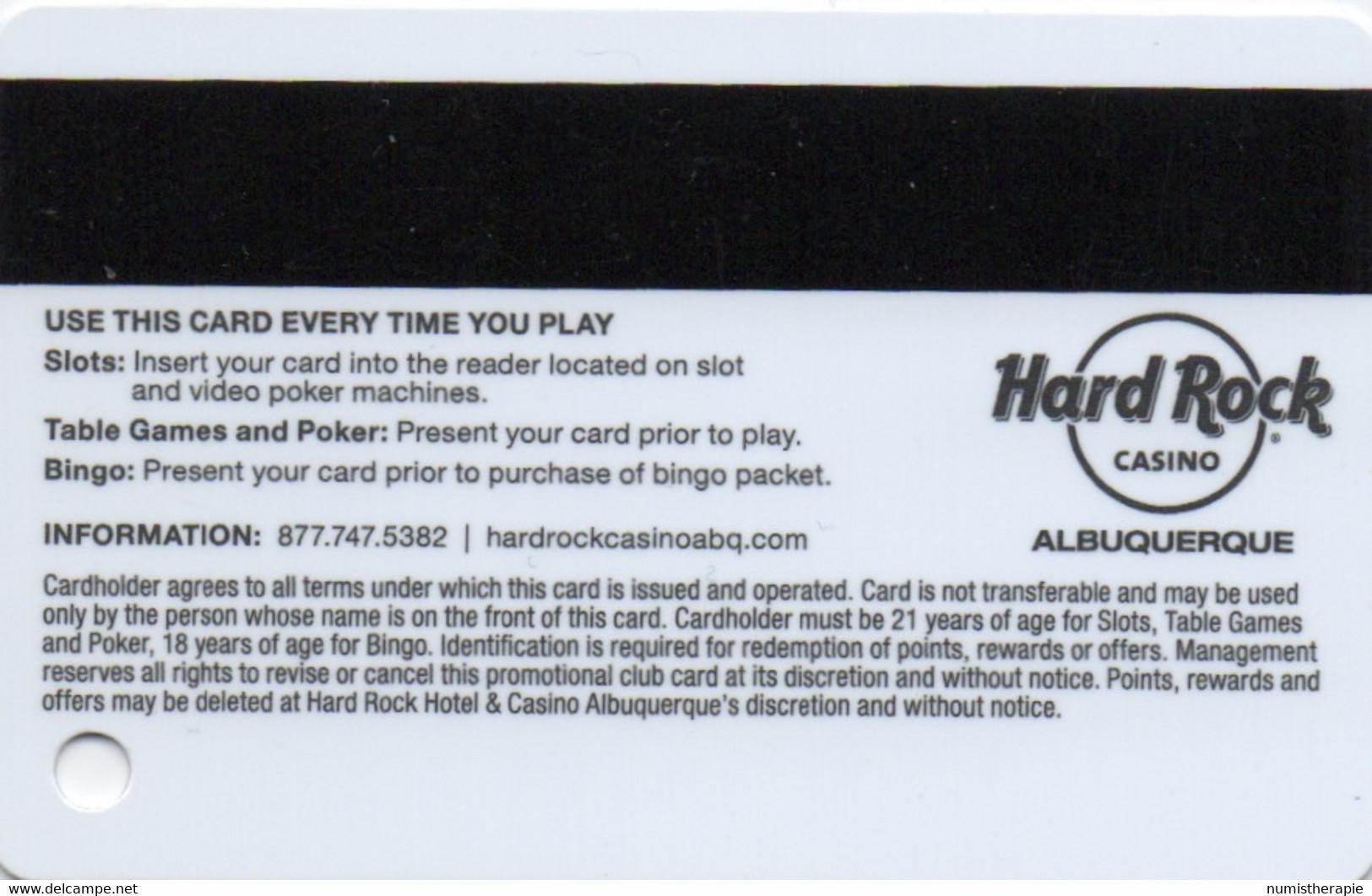 Hard Rock Casino Albuquerque NM : Rockstar Club General Admission - Casino Cards