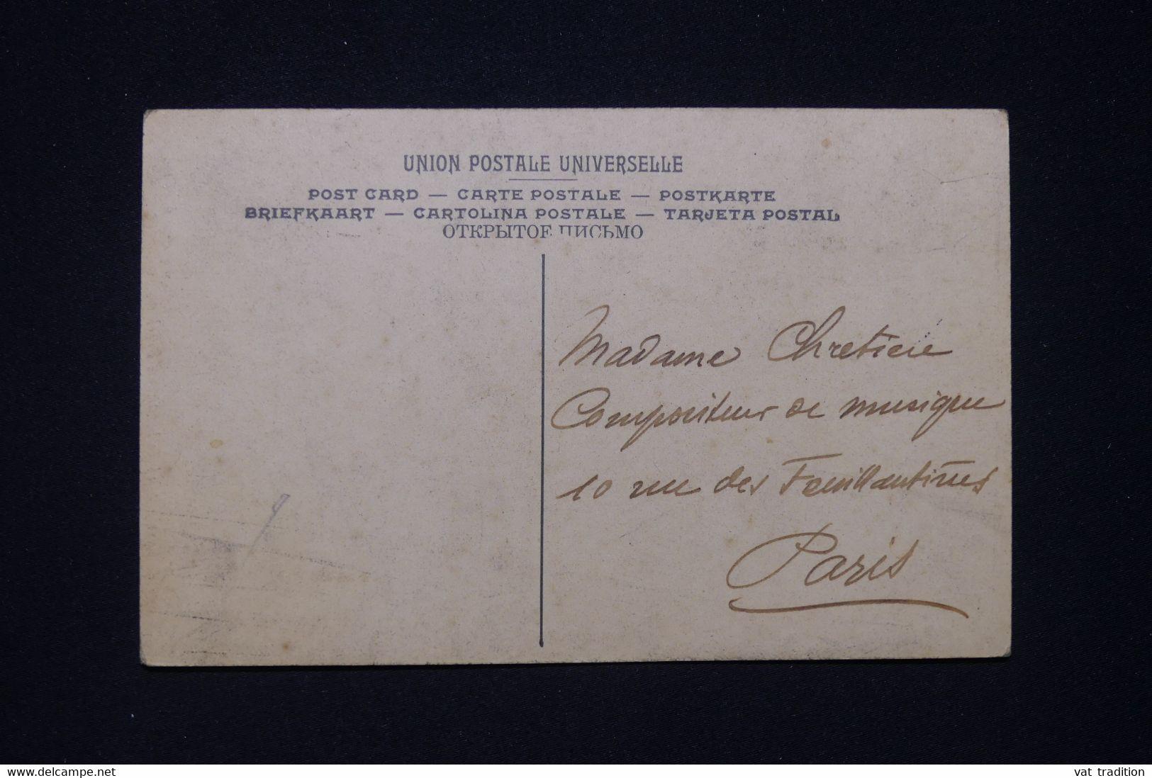 SIAM - Affranchissement Chulalongkorn 1er De Bangkok Sur Carte Postale Du Cambodge Pour Paris En 1912  - L 96767 - Siam