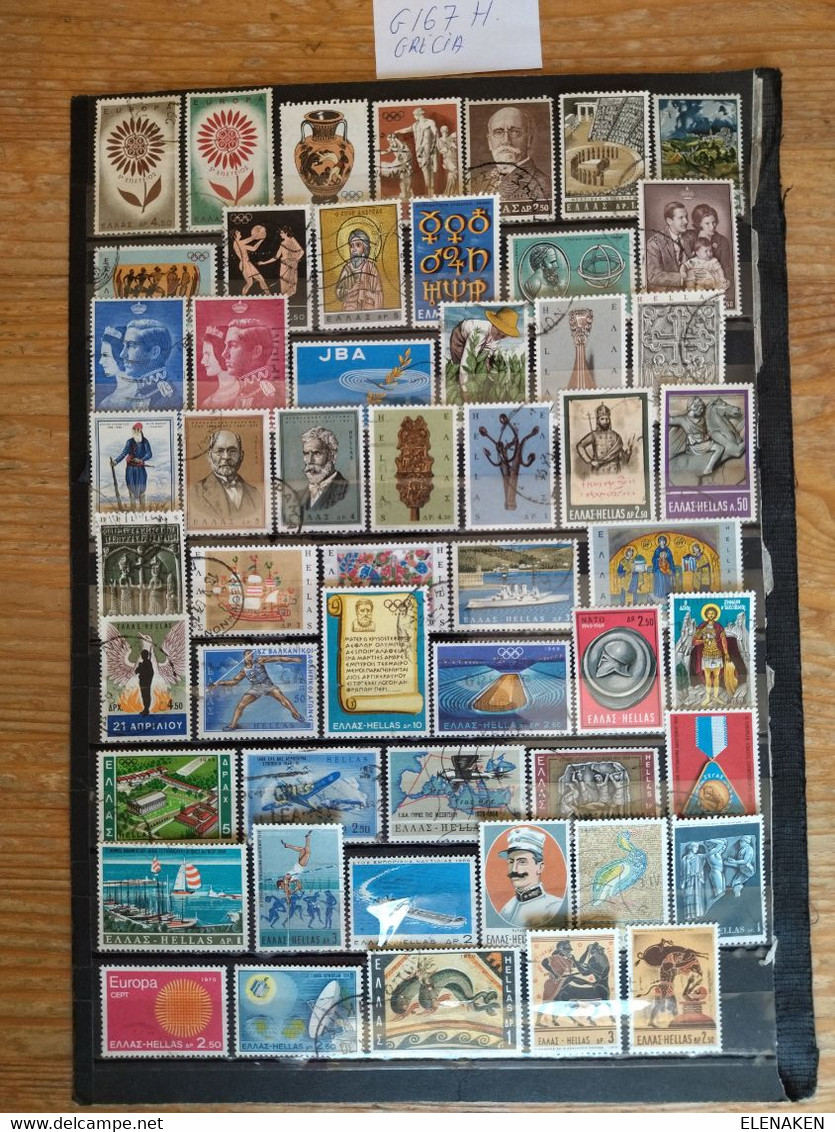 G167H--LOTE SELLOS GRECIA SIN TASAR,SIN REPETIDOS,ESCASOS. -GREECE STAMPS LOT WITHOUT PRICING WITHOUT REPEATED. -GRIECHE - Collections