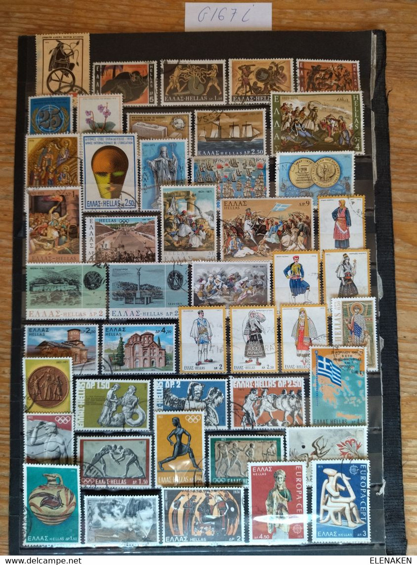 G167I-LOTE SELLOS GRECIA SIN TASAR,SIN REPETIDOS,ESCASOS. -GREECE STAMPS LOT WITHOUT PRICING WITHOUT REPEATED. -GRIECHEN - Collections