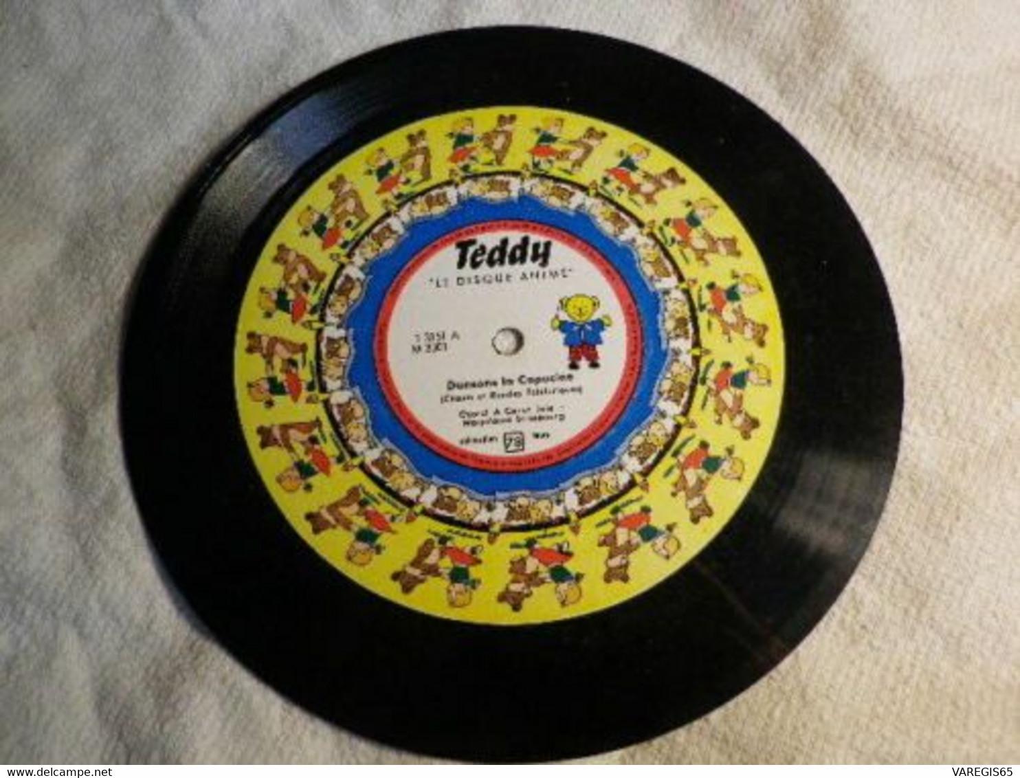 DISQUE ANIME - TEDDY - MICROSILLON 78 TRS - T 3151 A Et B / M 3001 - - 78 G - Dischi Per Fonografi