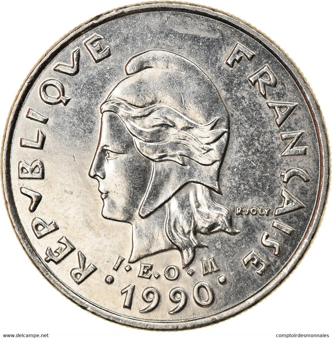Monnaie, Nouvelle-Calédonie, 10 Francs, 1990, Paris, TTB, Nickel, KM:11 - New Caledonia