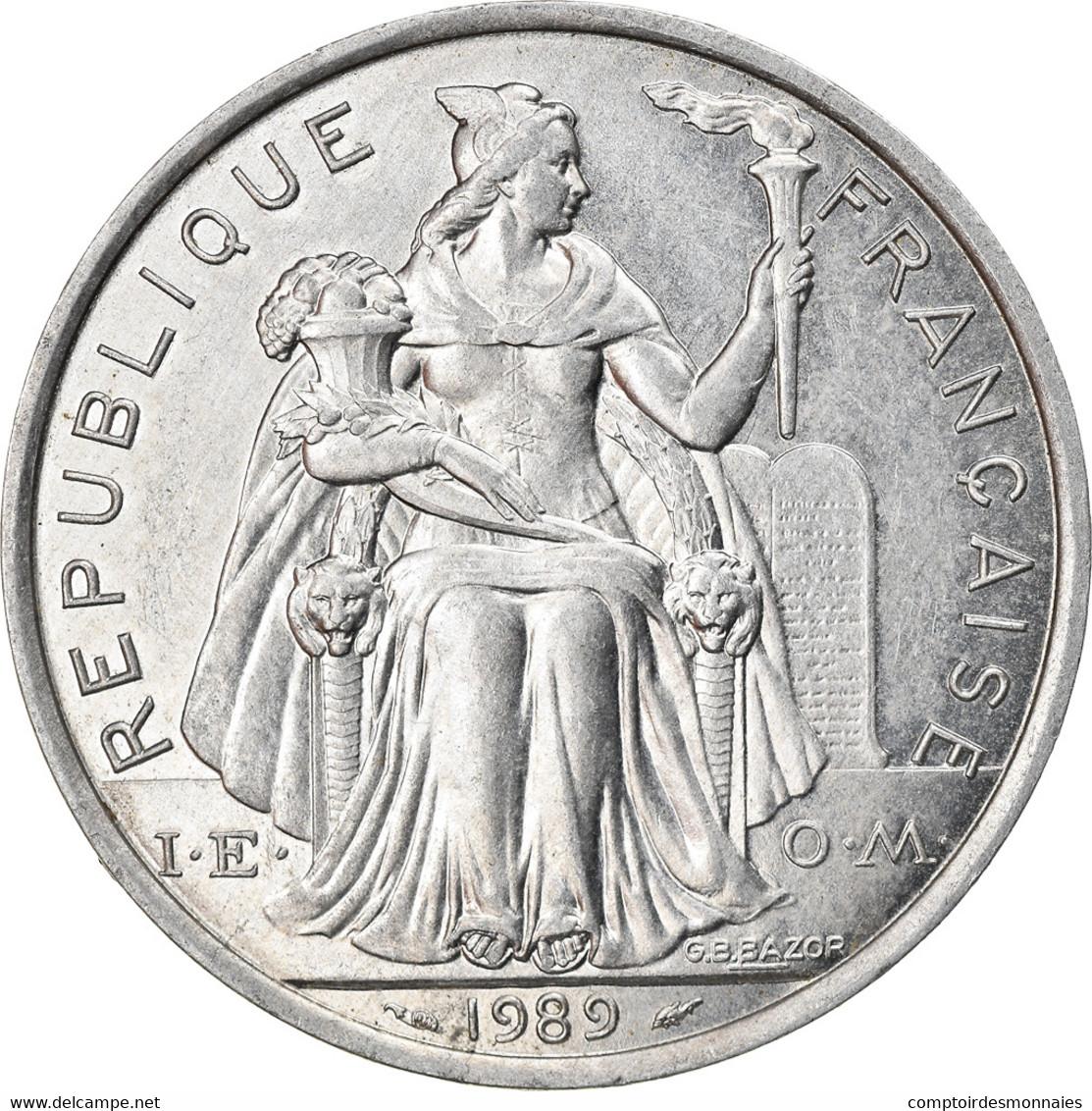 Monnaie, Nouvelle-Calédonie, 5 Francs, 1989, Paris, SPL, Aluminium, KM:16 - New Caledonia