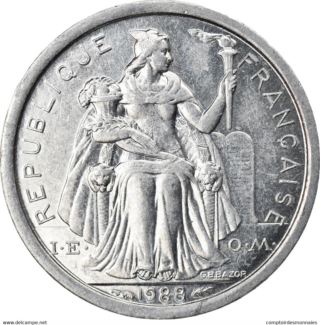 Monnaie, Nouvelle-Calédonie, Franc, 1988, Paris, SPL+, Aluminium, KM:10 - New Caledonia