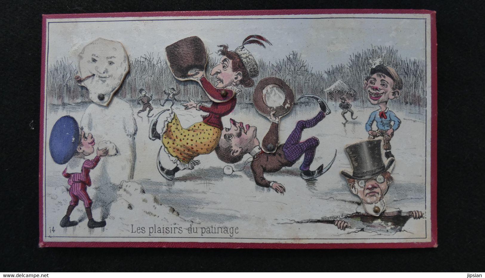 Ancien Jeu De Loto à Système Complet De Ses 12 Cartes 1890 édit Mauclair & Dacier Caricatures Lithographiées -- Z2 - Other