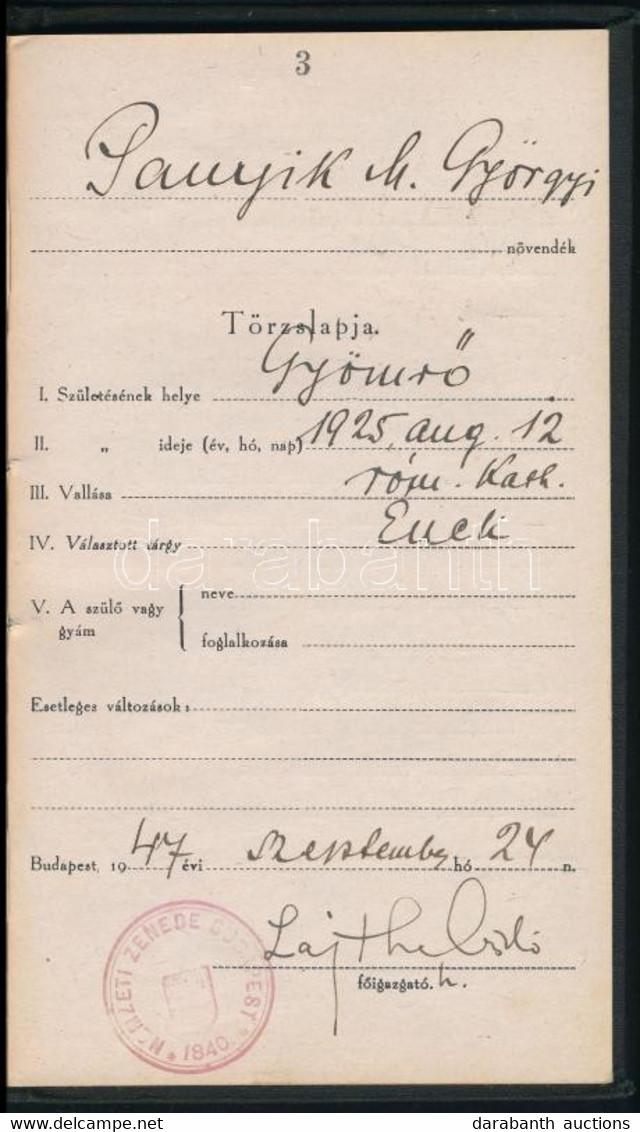 1947 Lajtha (Leitersdorfer) László (1892-1963) Zeneszerző, Népzenekutató Aláírása Leckekönyvben - Unclassified