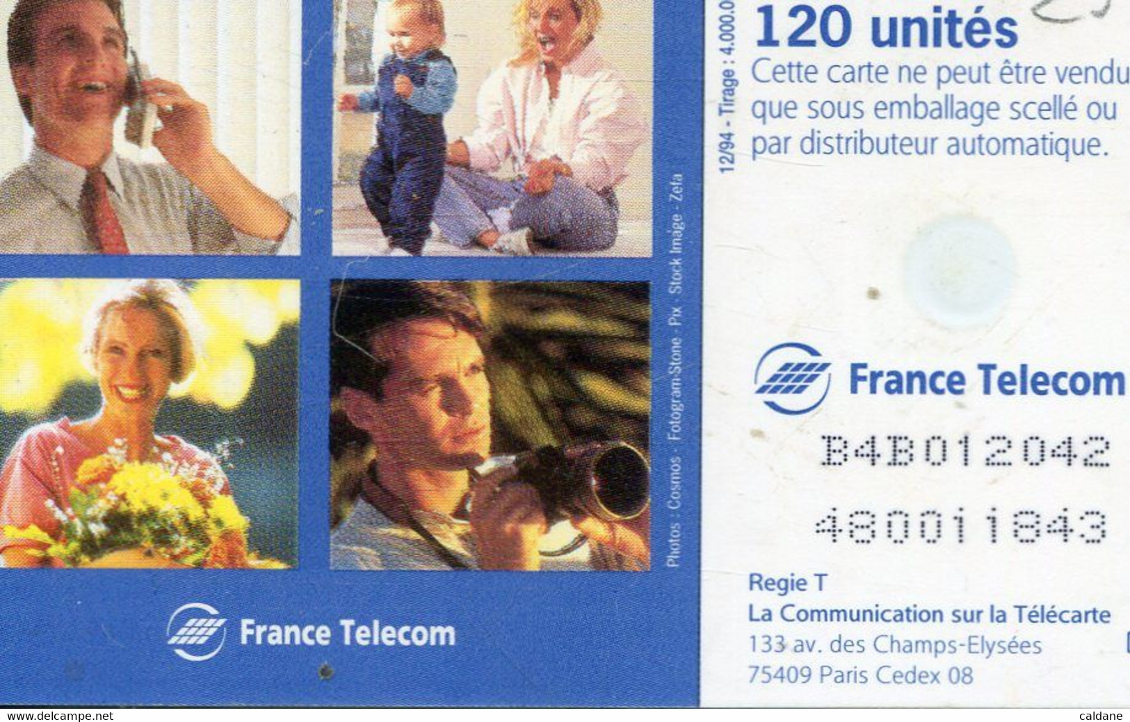 TELECARTE  France Telecom  120. UNITES - Telecom