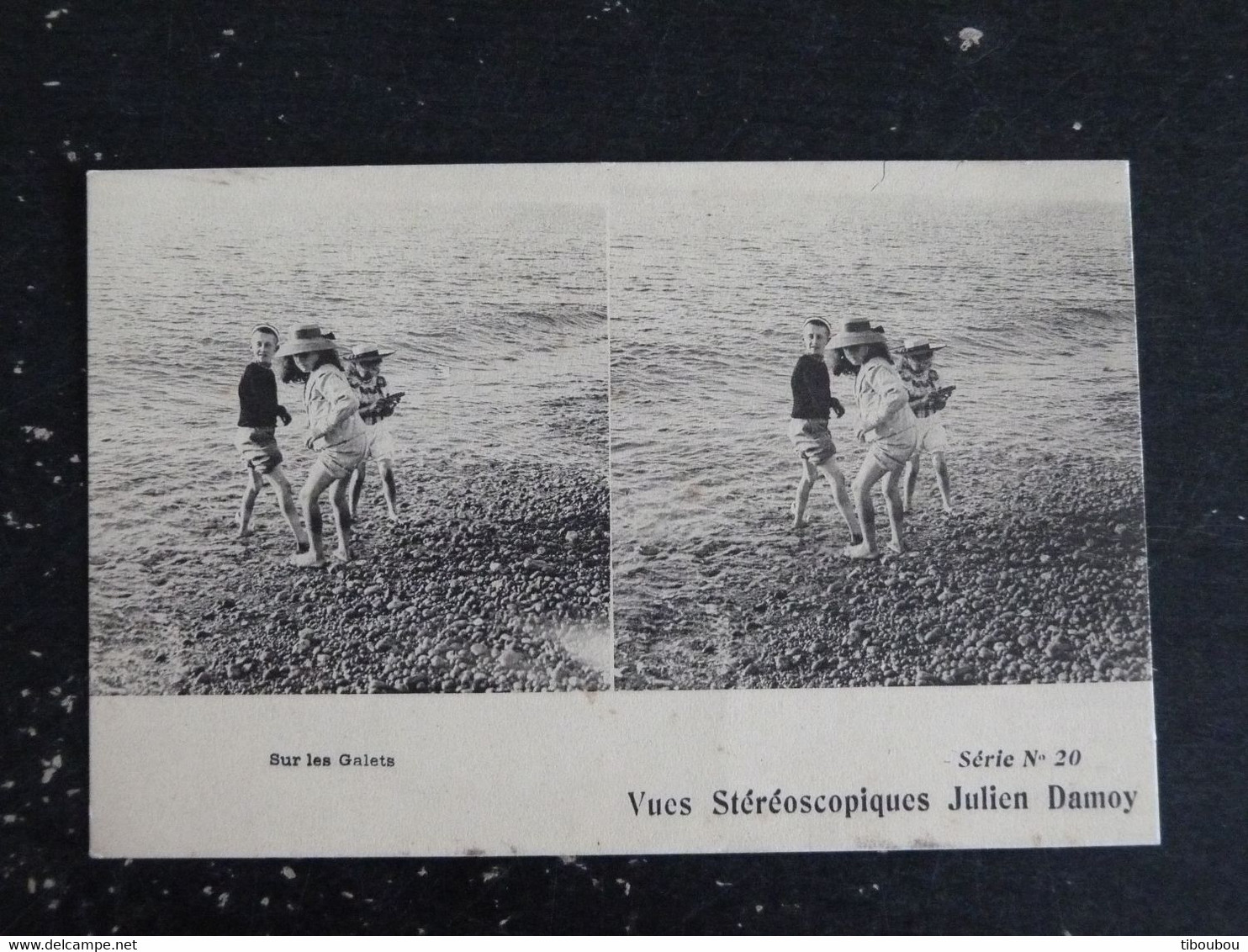 SUR LES GALETS - VUES STEREOSCOPIQUES JULIEN DAMOY SERIE N0 20 - Cartoline Stereoscopiche