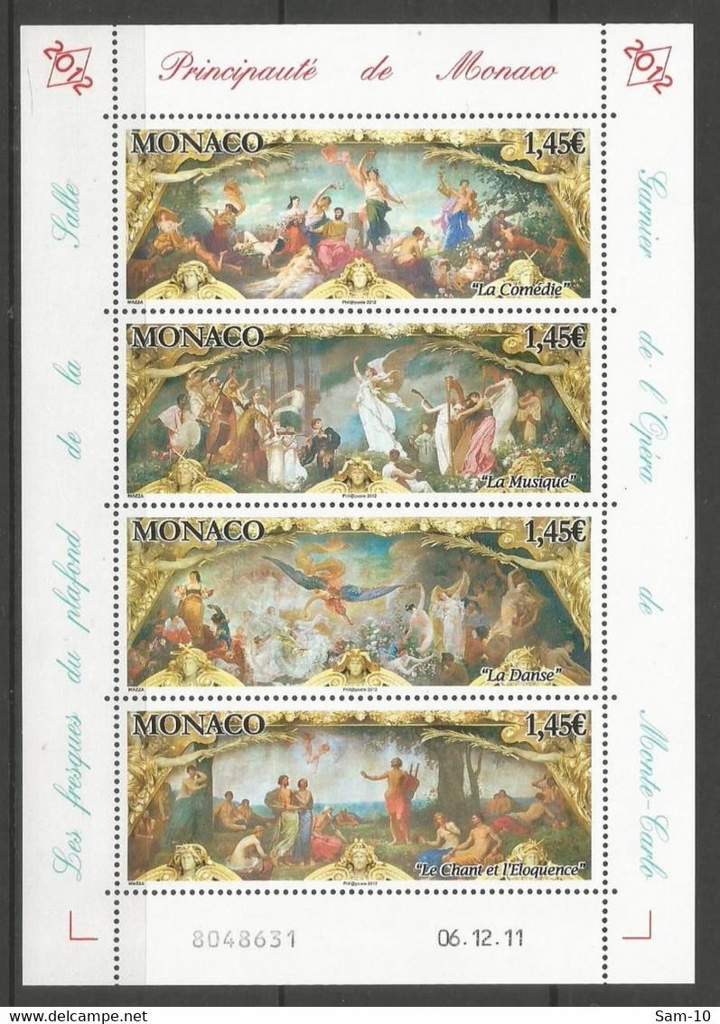 Feuillet   Monaco  En Neuf **  N 2812/1815  Vendu Au Prix De La Poste - Nuovi