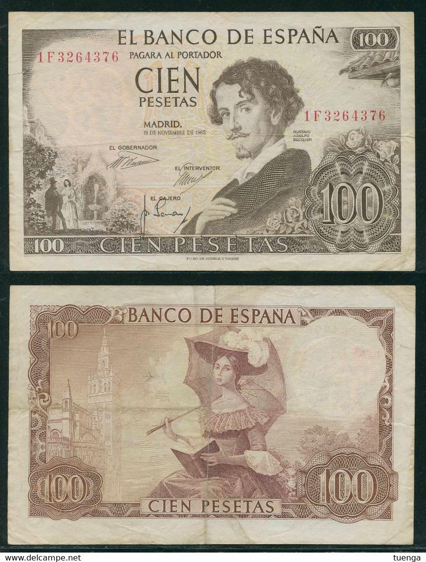 España 1965 - Billete De 100 Pesetas - Gustavo Adolfo Becquer - 100 Pesetas