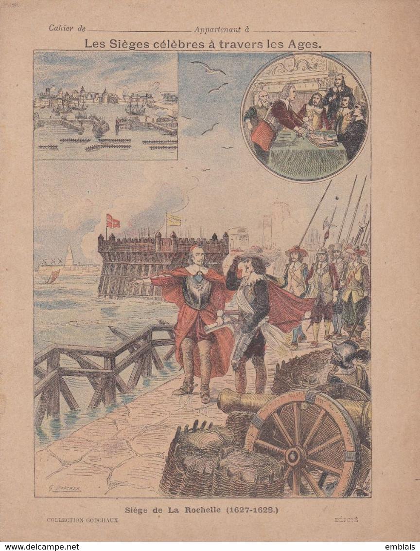 17 - LA ROCHELLE - COUVERTURE De CAHIER - Siège De La Rochelle (1627-1628) Illustration G.DASCHER - Fin XIXe - Book Covers