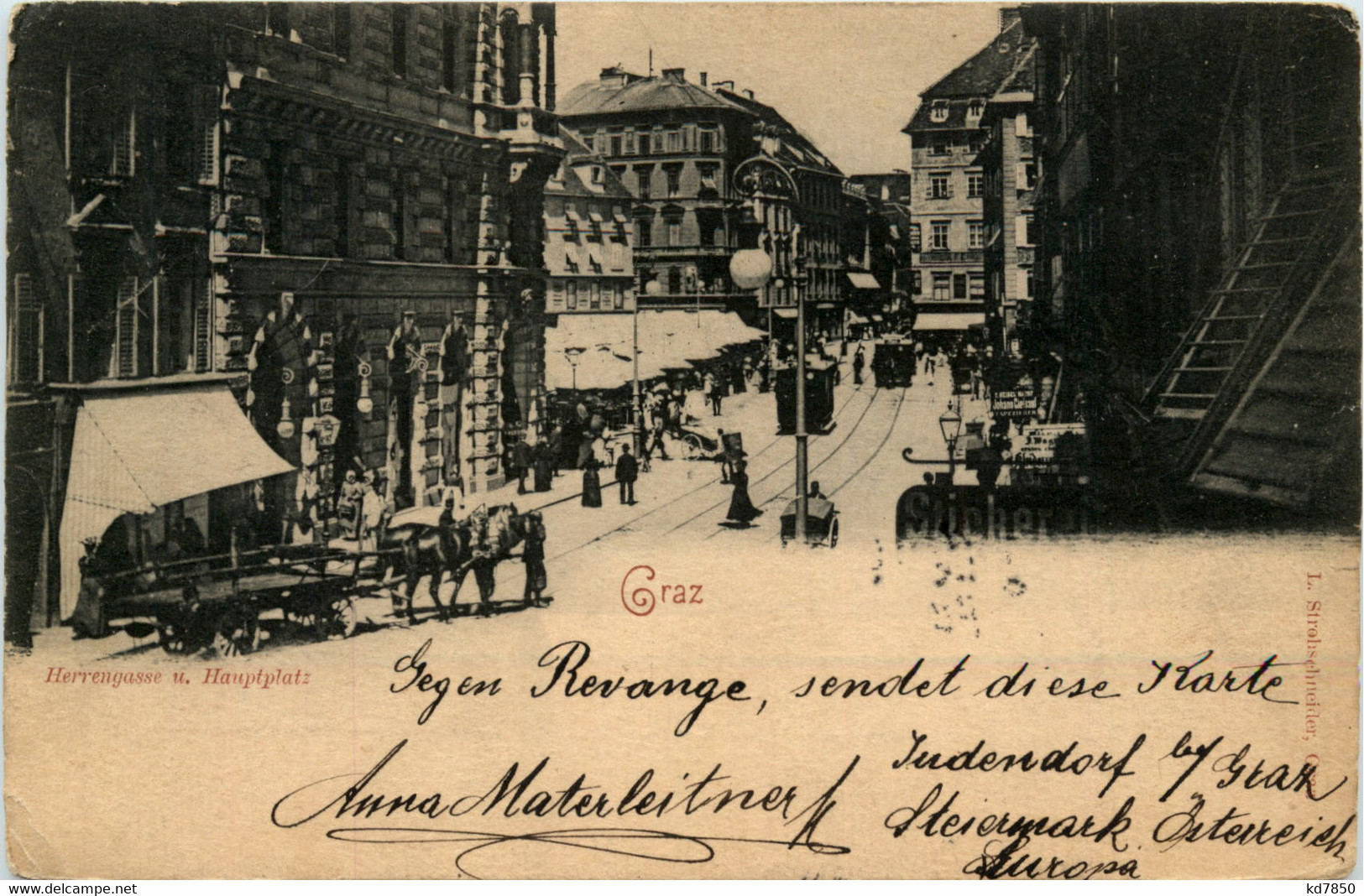 Graz/Steiermark -   Herrengasse Und Hauptplatz - Graz