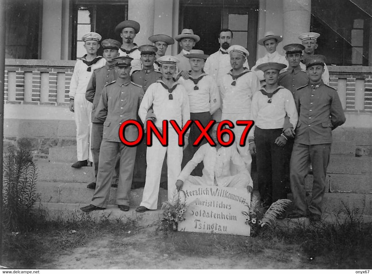 PHOTO 11,5 X 8,5-TSINGTAU-QINGDAO-Kiautschou-Kiaou-Deutsche Kolonie-Militaire Allemand-Colonie-Kaiser Marine-CHINE-CHINA - Places