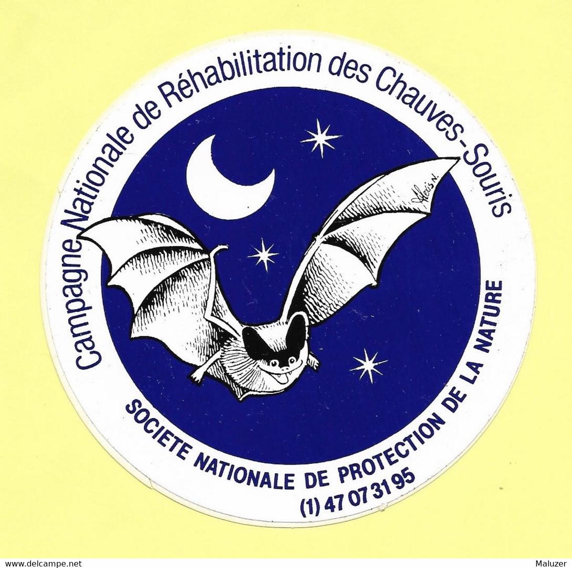 AUTOCOLLANT STICKER - CAMPAGNE REHABILITATION CHAUVES-SOURIS - SOCIÉTÉ NATIONALE PROTECTION NATURE - Stickers
