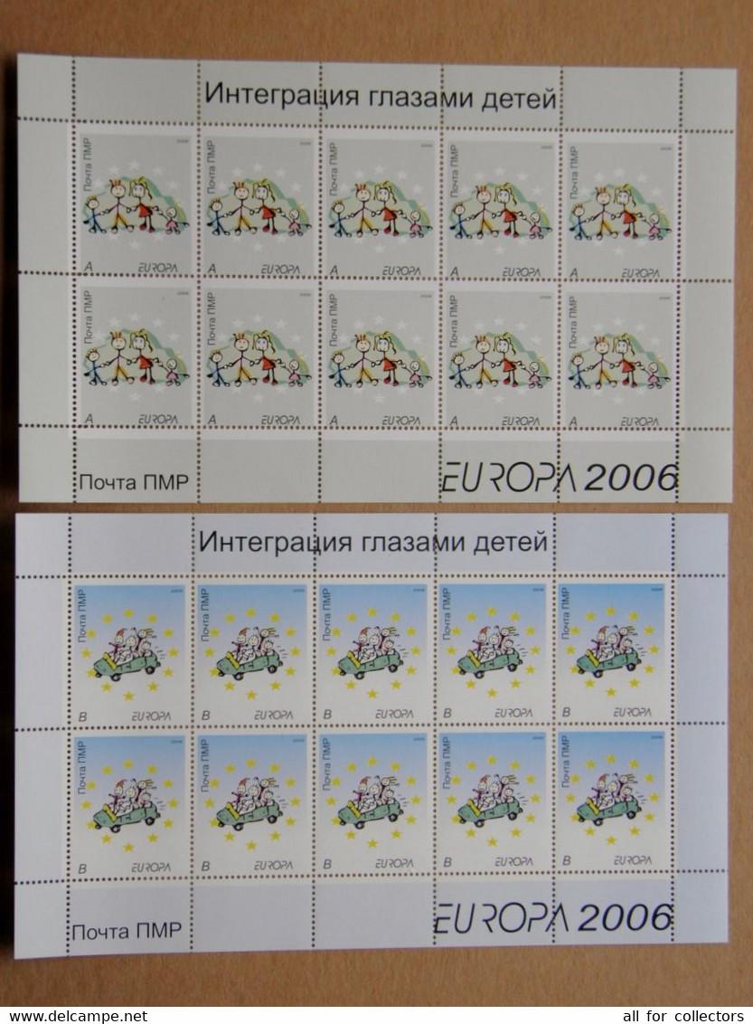 Europa Cept 2006 2 Sheetlets Pmr Pridnestrovie Transnistria Moldova Children, Integration - 2006