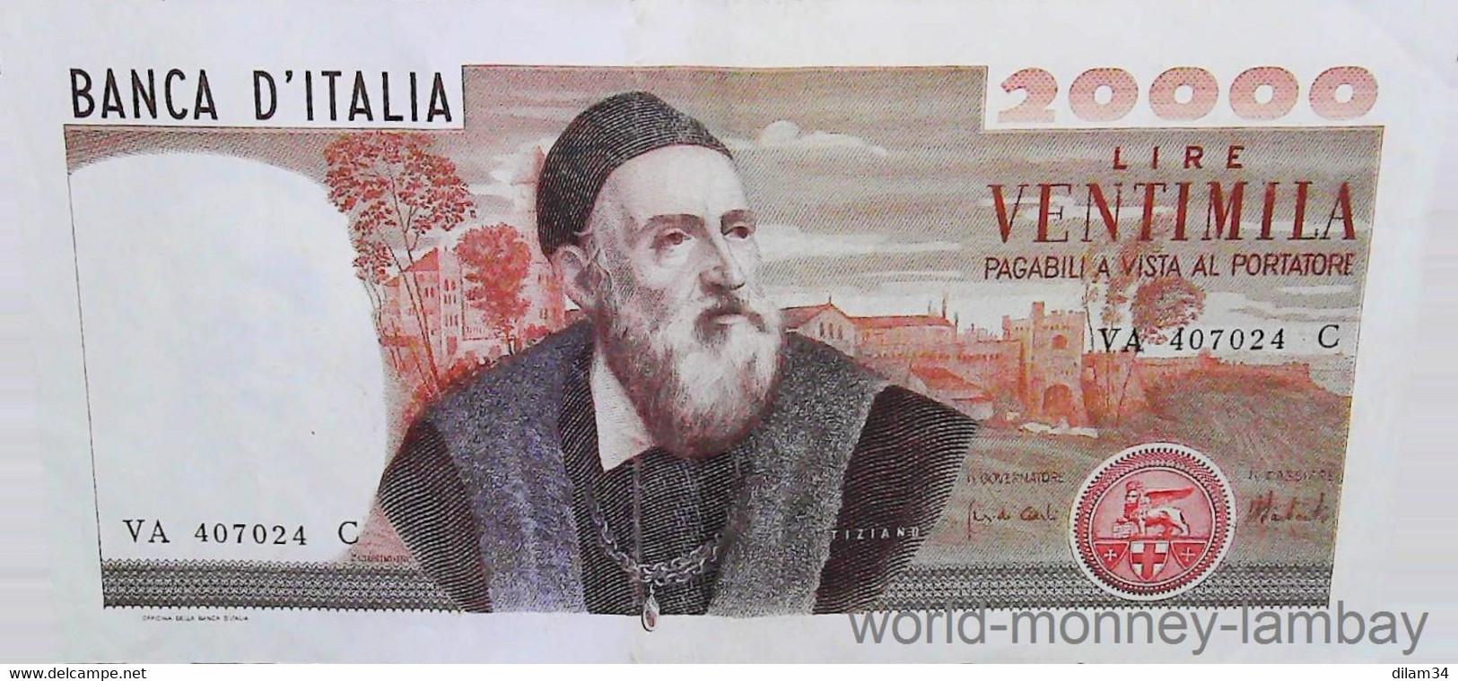 20.000 Lires  TIZIANO  ITALIE  21/02/1975  Pick # 104 - 20000 Lire