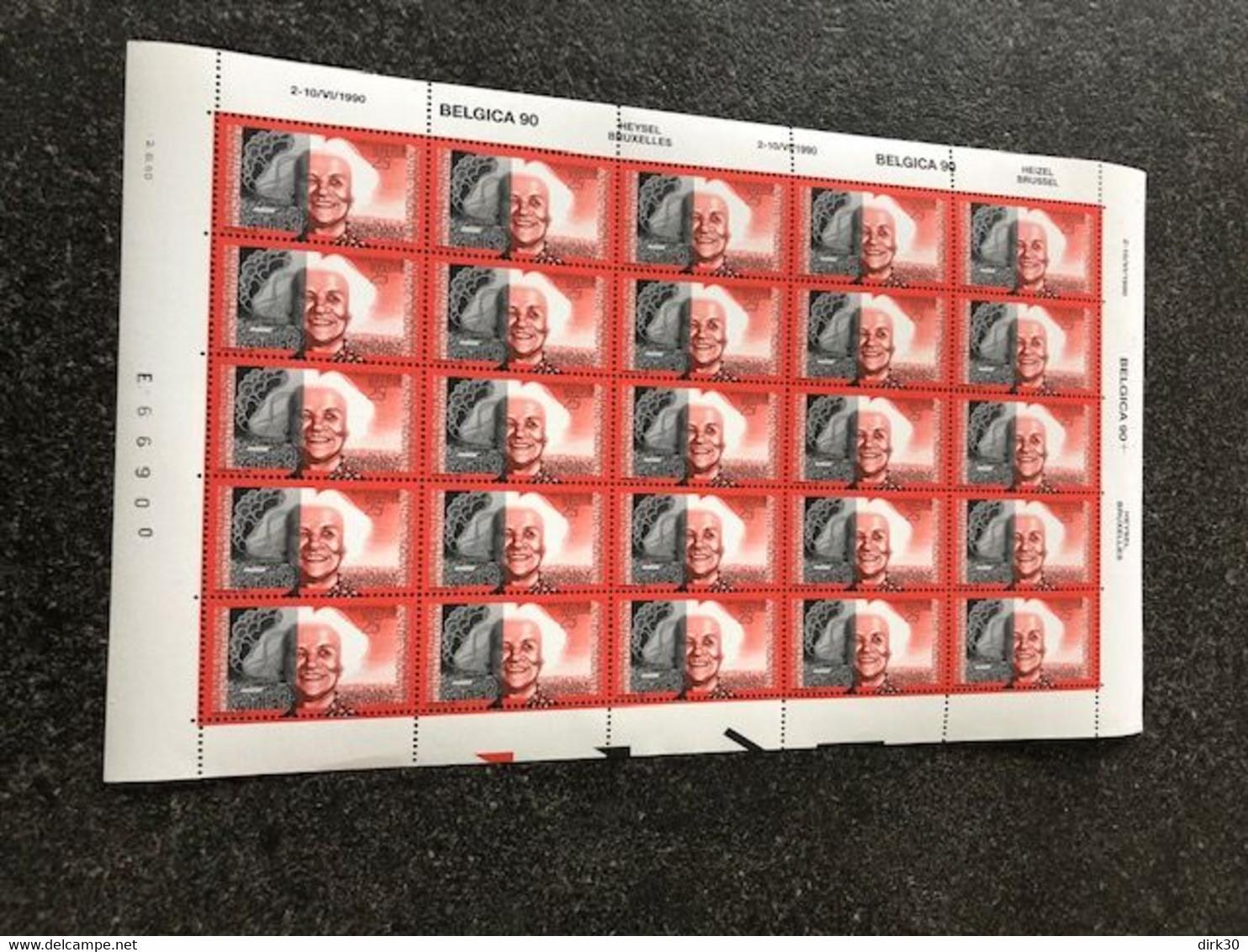 Belgie 1990 2360 Brunfaut FULL SHEET MNH Plaatnummer 0 - Volledige Vellen