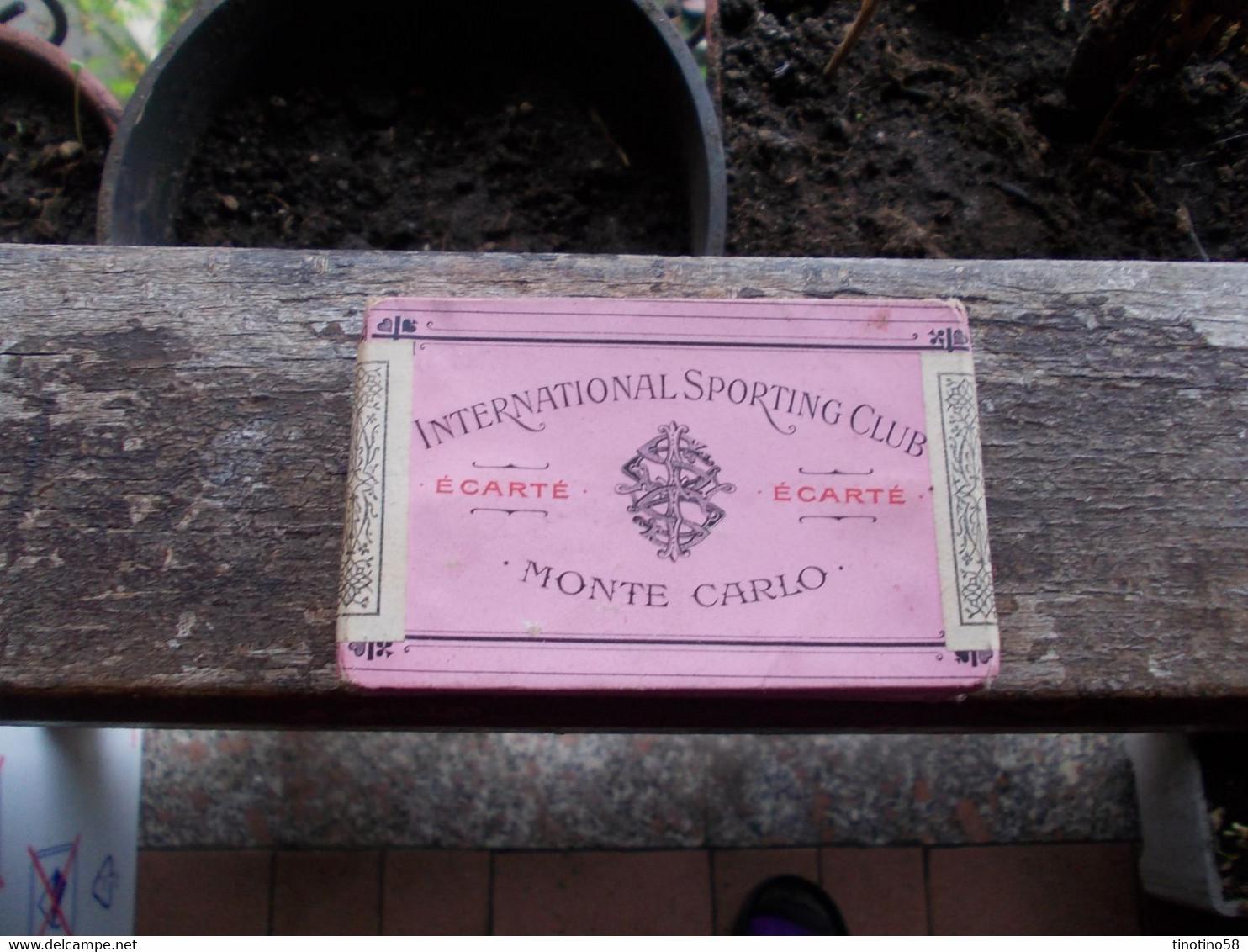 MONTE  CARLO  SPORTING  CARTE  DA  BACCARA'  NUOVE  ANCORA CHIUSE  --VINTAGE - Casino Cards
