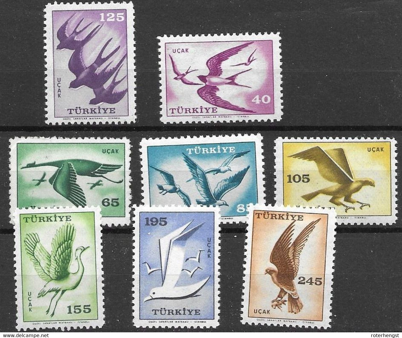 Turkey Complete Bird Set Mnh ** 12 Euros 1959 - Unused Stamps