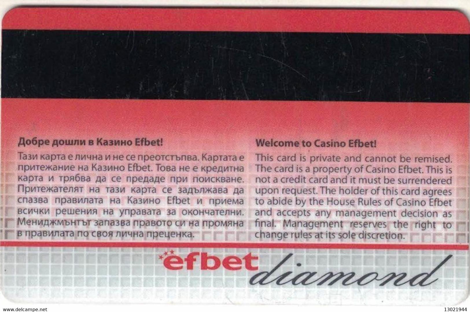 BULGARIA KEY CASINO      Efbet Diamond - Casino Cards