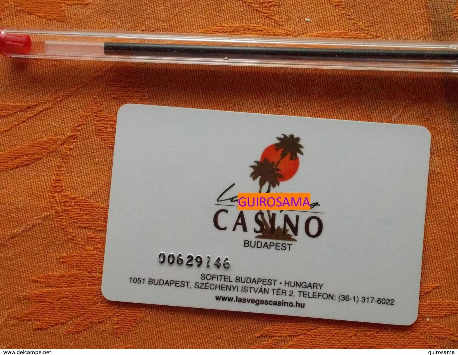 Carte De Casino Las Vegas Budapest Sofitel 2015 - Casino Cards