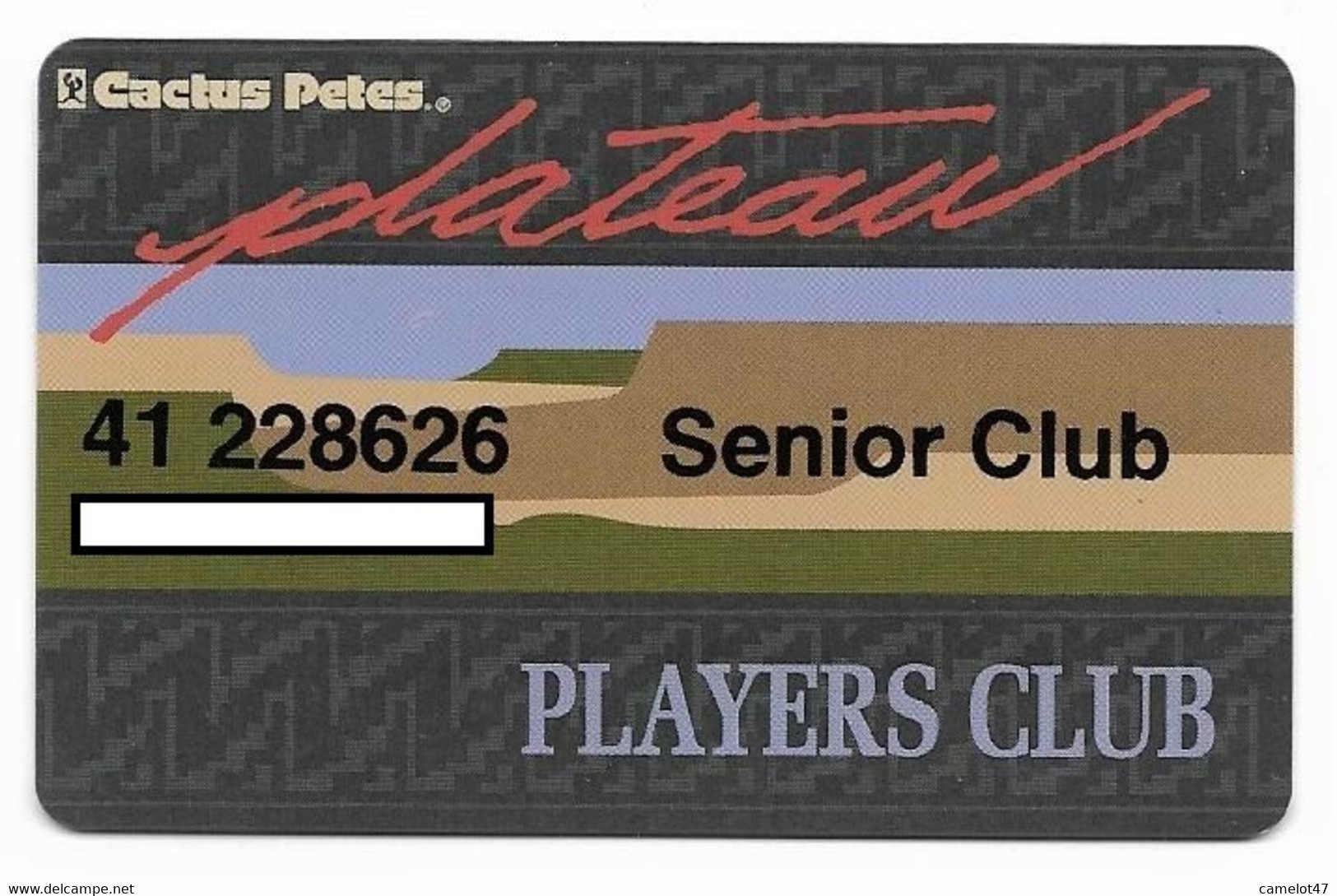 Cactus Pete's Casino, Jackpot, NV, U.S.A., Older Used Slot Or Player's Card, # Cactuspetes-1 - Casino Cards