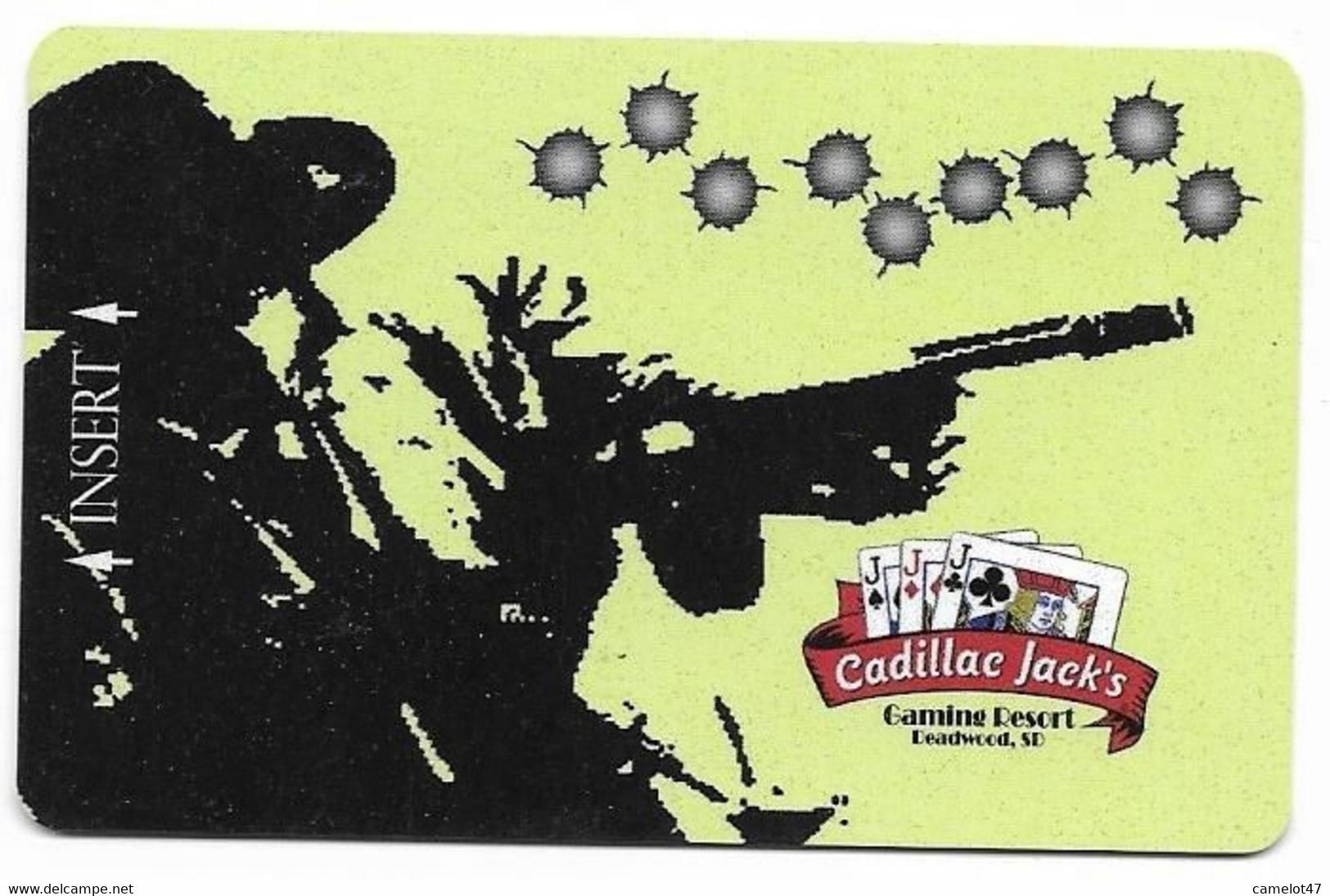 Cadillac Jack's Casino, Deadwood, SD, U.S.A. Older Used  BLANK Slot Or Player's Card, # Cadillacjacks-3blank - Casino Cards