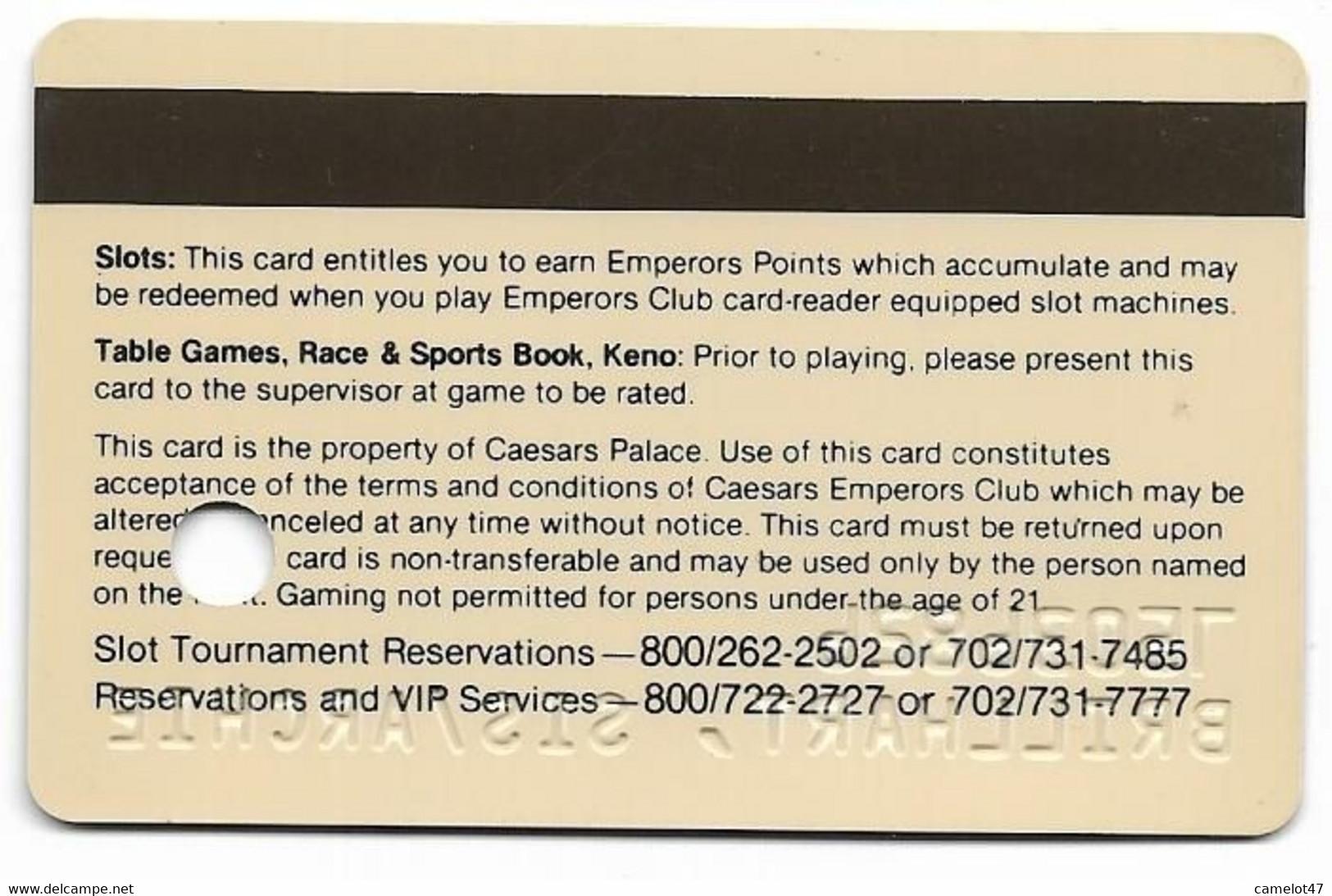 Caesars Palace Casino,Las Vegas, Older Used Slot Or Player's Card, # Caesars-5 - Casino Cards