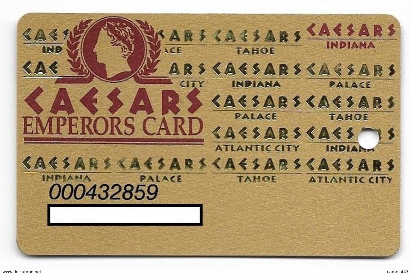 Caesars Palace Casino, Indiana, Older Used Slot Or Player's Card, # Caesars-8 - Casino Cards