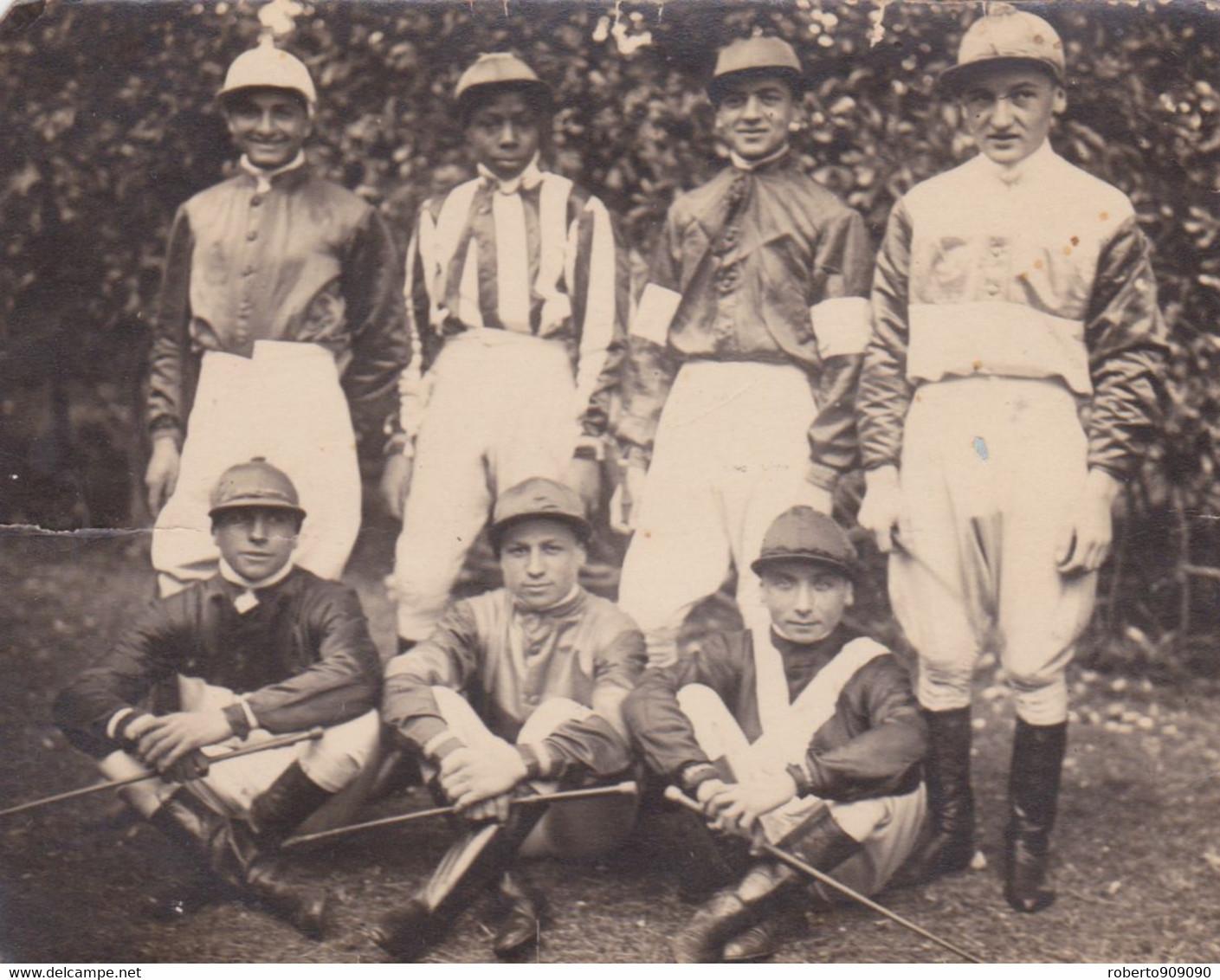 1915circa-foto Di Gruppo (Jockeys Fantini) Non Viaggiata - Horses