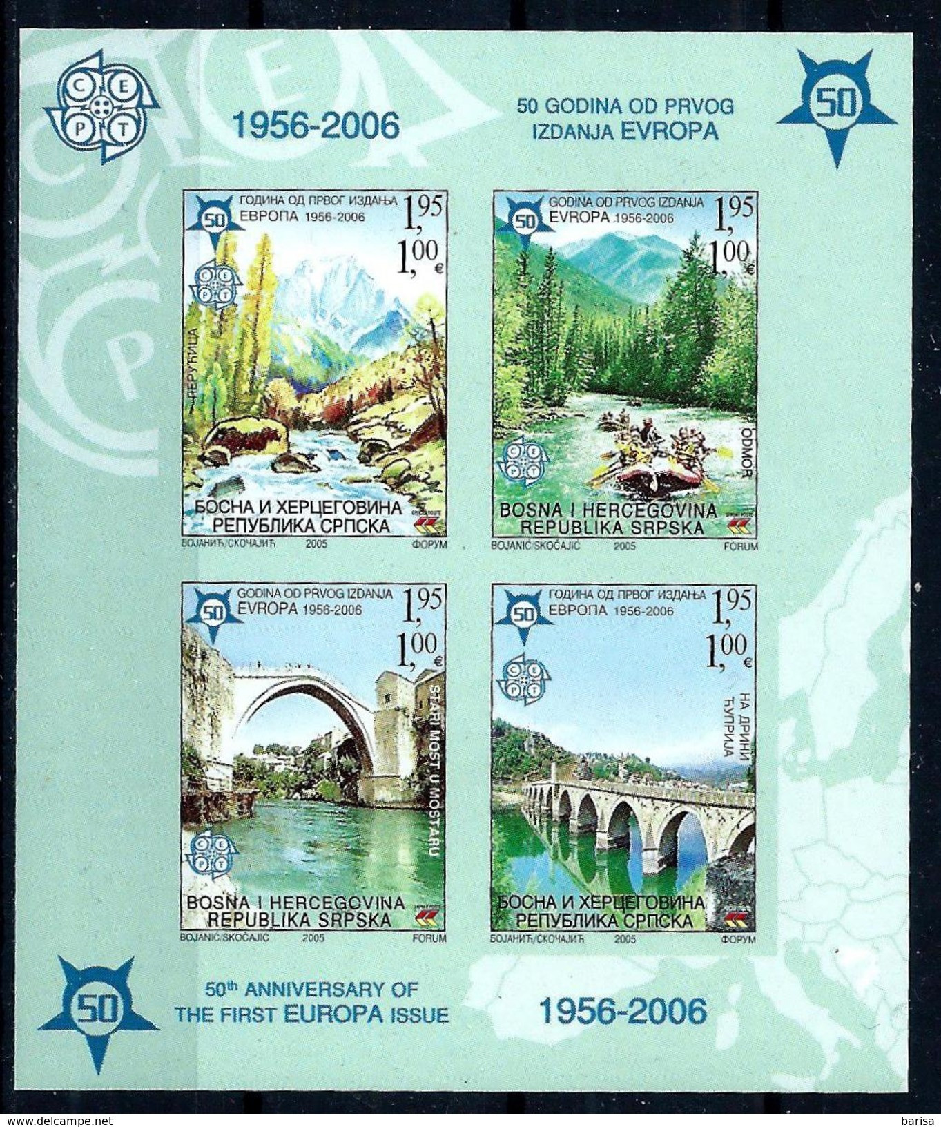 Bosnia And Herzegovina (Rep.Srpska) 2005: 50th Anniversary Of The First EUROPA Stamps ** MNH - 2006