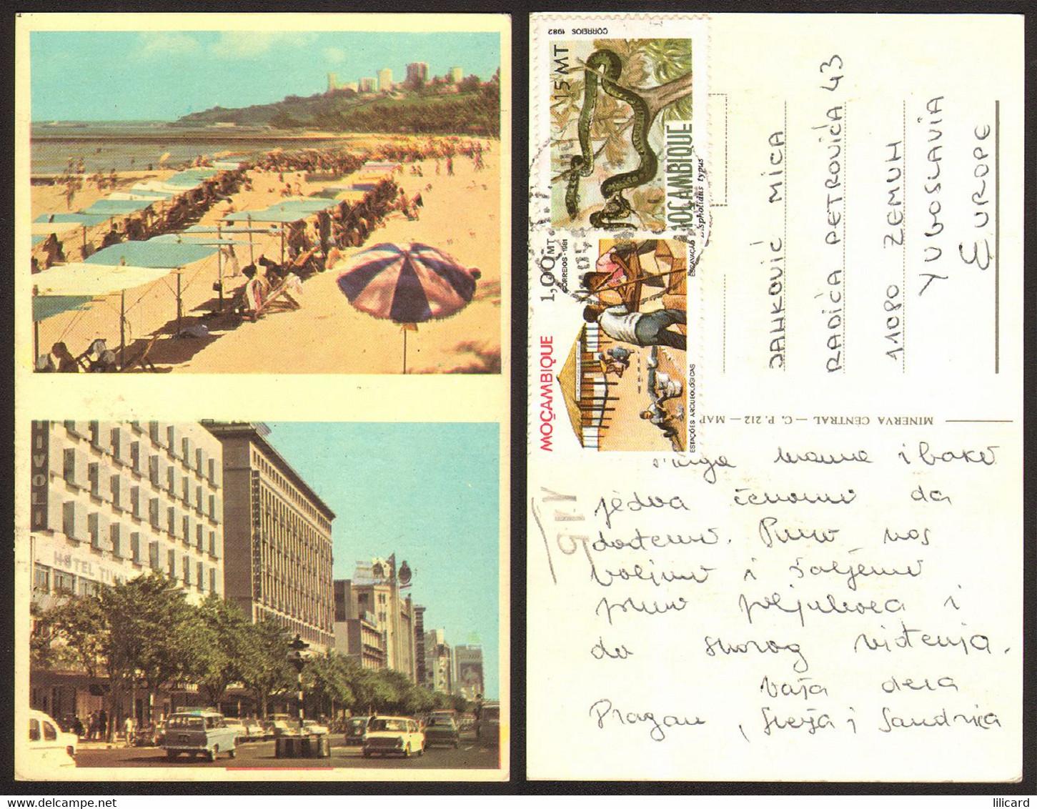 Mozambique City Beach  Nice Stamp #28093 - Mozambique
