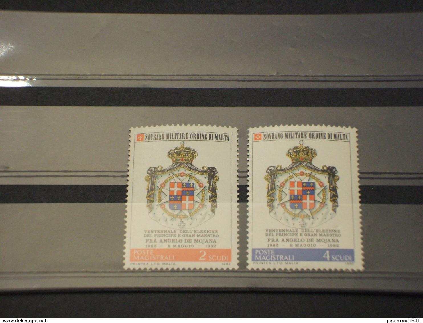 SOVRANO MILITARE ORDINE DI MALTA - 1982 STEMMI 2 VALORI  - NUOVO(++) - Malte (Ordre De)