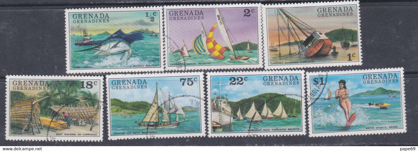 Grenadines N° 139 / 45  O  Tourisme Les 7 Valeurs  Oblitérées, TB - America (Other)