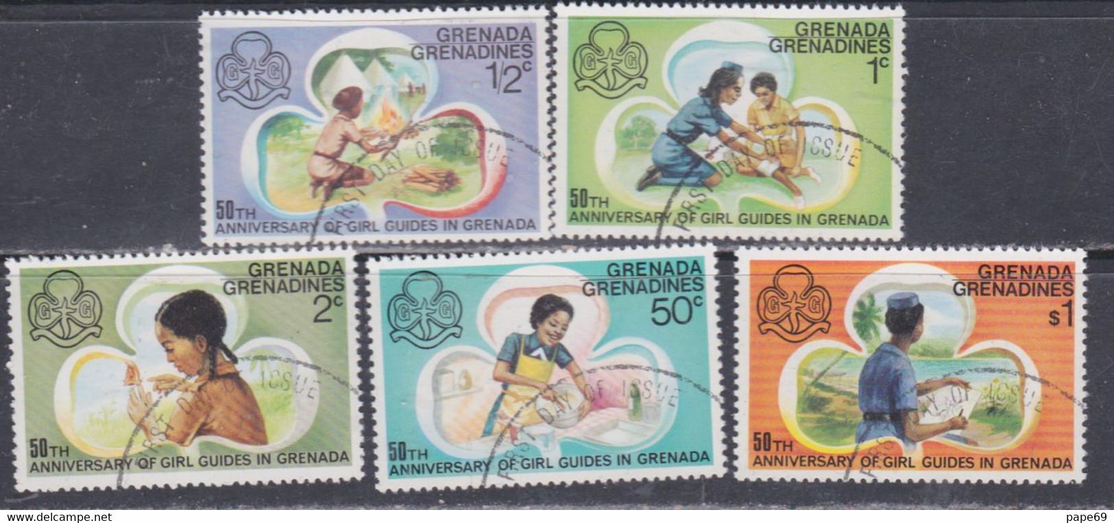 Grenadines N° 146 / 50  O  50è Anniversaire Des Guides De Grenade, Les 5 Valeurs  Oblitérées, TB - America (Other)