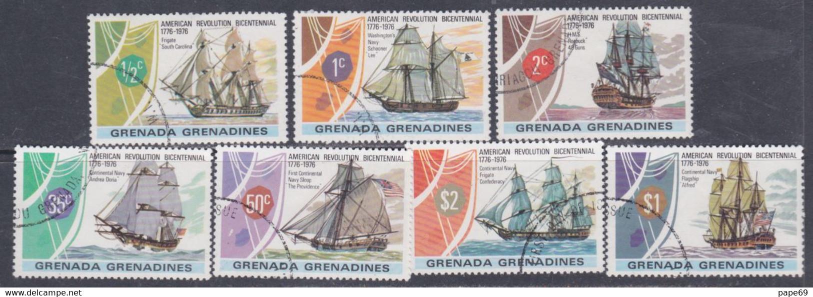 Grenadines N° 157 / 63  O  Bicentenaire De L' Indépendance Des Etats-Unis,  Les 7 Valeurs  Oblitérées, TB - Sonstige - Amerika