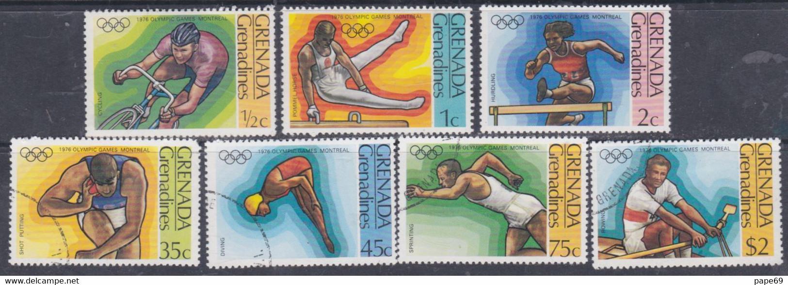 Grenadines N° 170 / 76  X, O  Jeux Olympiques De Montréal,  Les 7 Valeurs Trace De Charnière Ou Oblitérées, TB - America (Other)