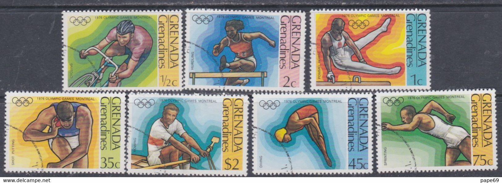 Grenadines N° 170 / 76  O  Jeux Olympiques De Montréal,  Les 7 Valeurs  Oblitérées, TB - America (Other)