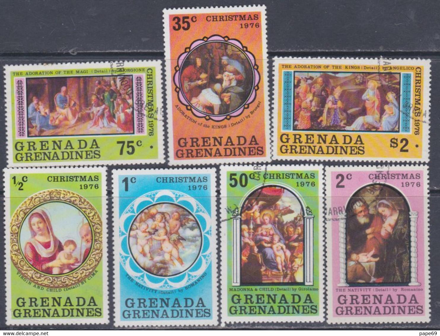 Grenadines N° 177 / 83  X, O Noël : Tableaux,  Les 7 Valeurs  Trace De Charnière Ou Oblitérées, TB - America (Other)