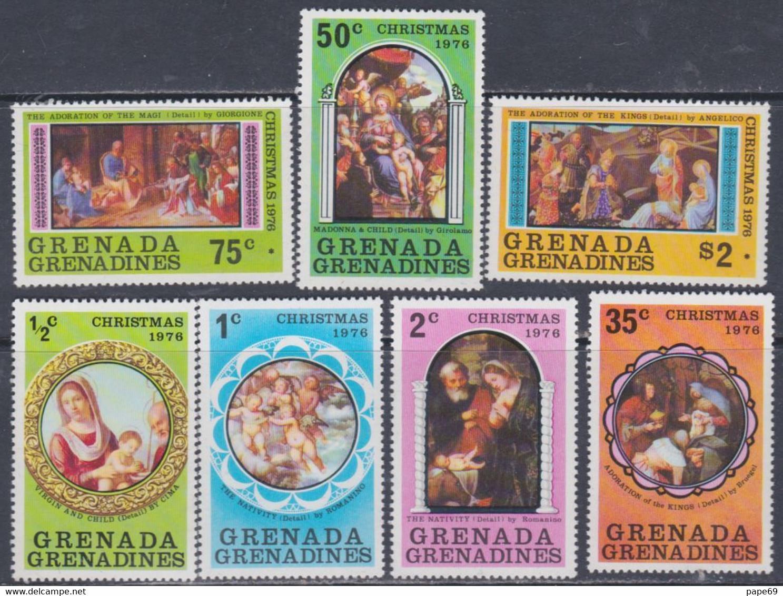 Grenadines N° 177 / 83  XX  Noël : Tableaux,  Les 7 Valeurs Sans Charnière, TB - America (Other)