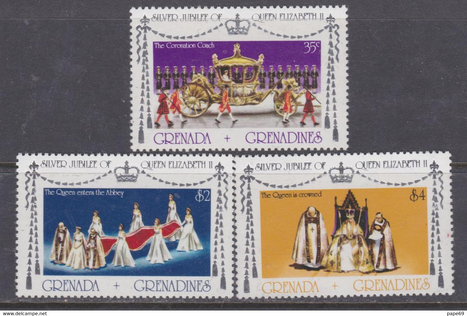 Grenadines N° 191 / 93  XX 25è Anniv. De L'accession Au Trône De S. M. Elisabeth II,  Les 3 Valeurs Sans Charnière, TB - America (Other)