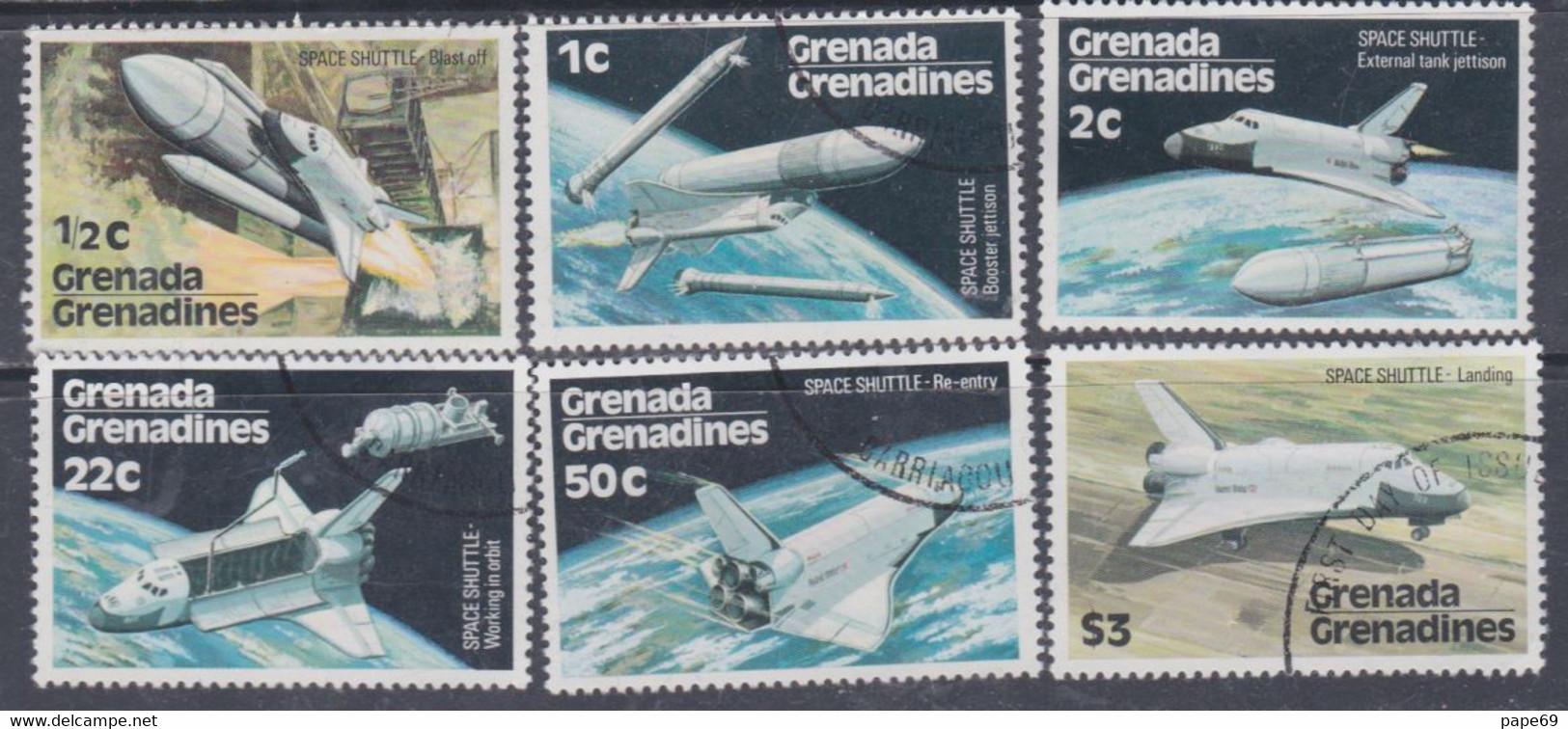 Grenadines N° 222 / 27  X, O Navette De L'espace  Les 6 Valeurs Trace De Charnière Ou Oblitérées, TB - America (Other)