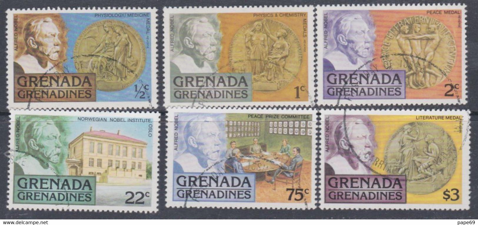 Grenadines N° 228 / 30  O Distinction Du Prix Nobel  Les 6 Valeurs Oblitérées, TB - America (Other)