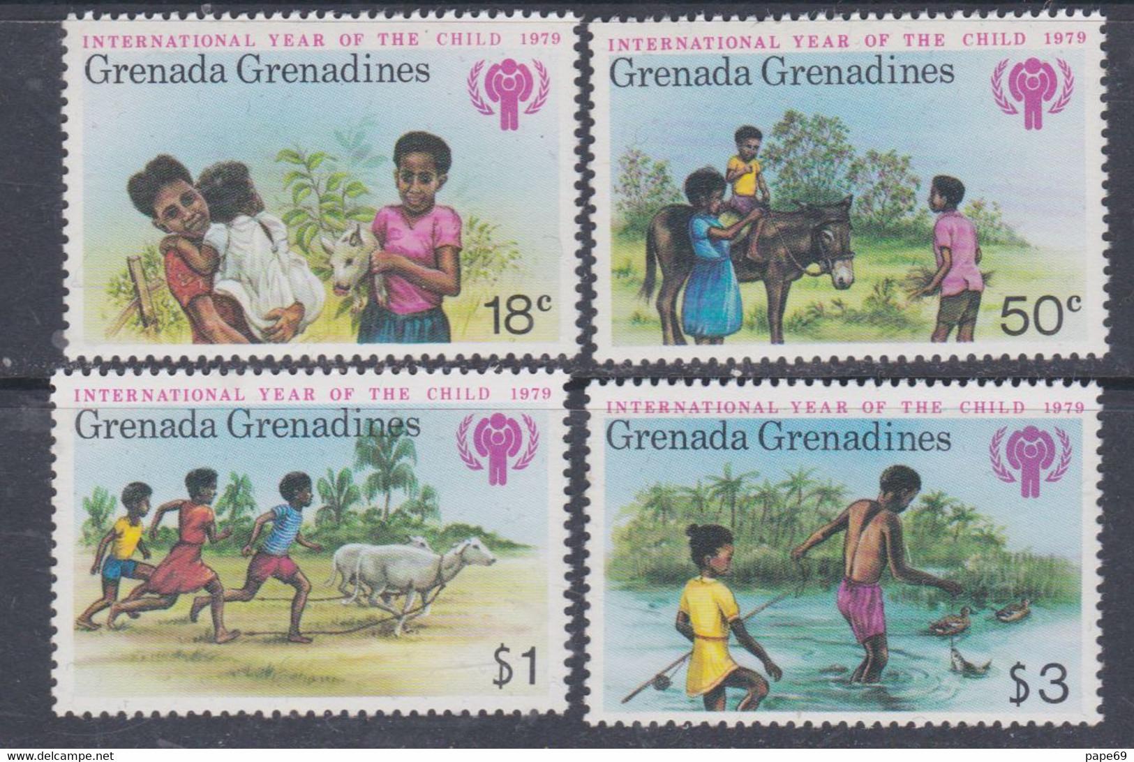 Grenadines N° 285 / 88 XX Année Internationale De L'enfant, Les 4 Valeurs  Sans Charnière, TB - America (Other)