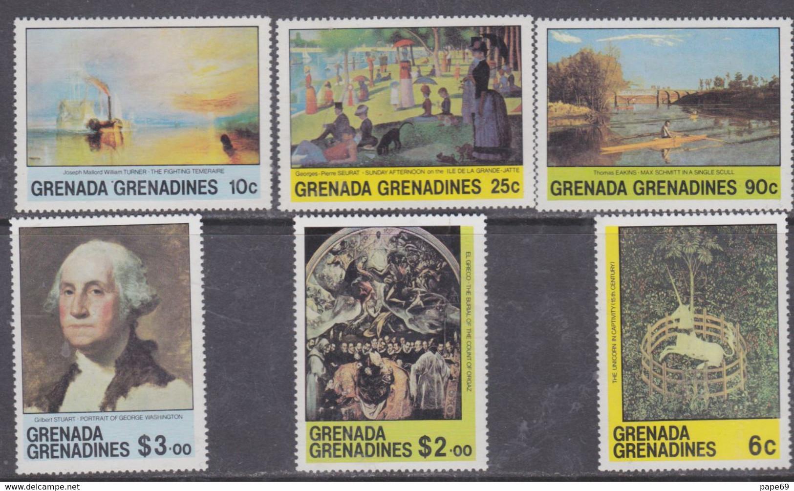 Grenadines N° 379 / 84  XX  : Oeuvres D' Art : Tableaux, Les 6 Valeurs Sans Charnière, TB - America (Other)