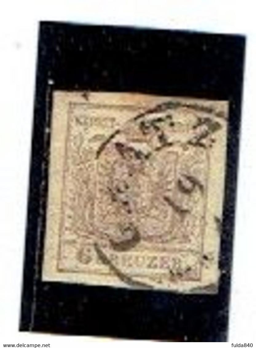 AUTRICHE-Empire ( Y&T) 1850 - N°4  *Papier à La Machine*    6k  (obli) GRATZ - Used Stamps