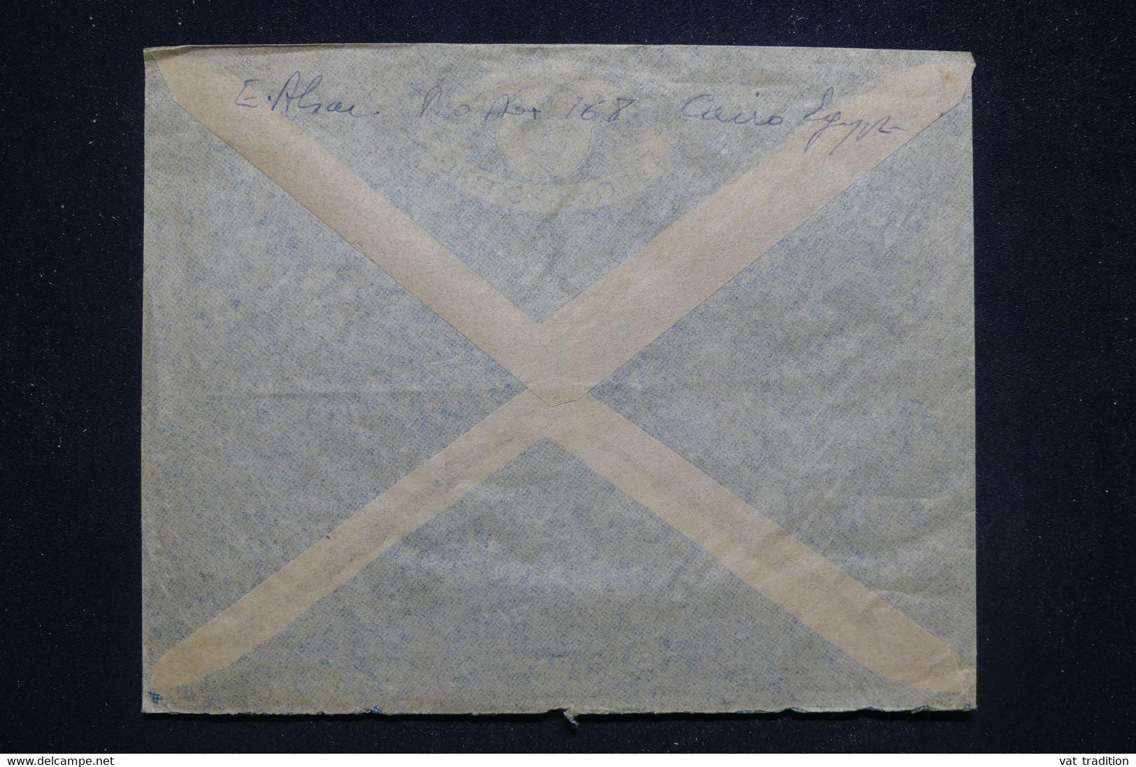 """EGYPTE - Enveloppe Du Caire Pour La France Par Avion """" SAIDE """", Affranchissement PA Surchargé ( SAIDE 1948 ) - L 96995 - Covers & Documents"""