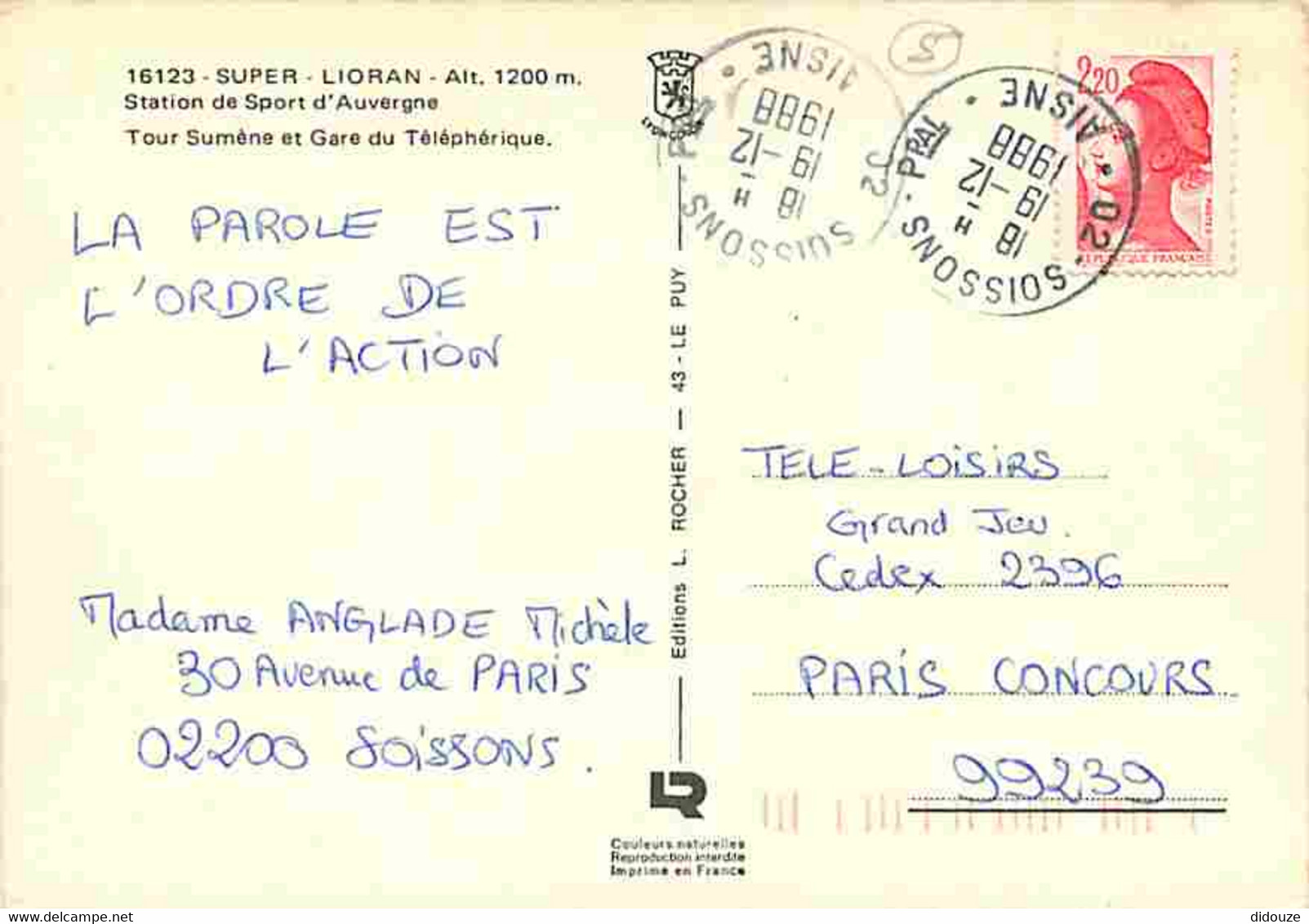 15 - Super Lioran - Tour Sumène Et Gare Du Téléphérique - CPM - Voir Scans Recto-Verso - Other Municipalities