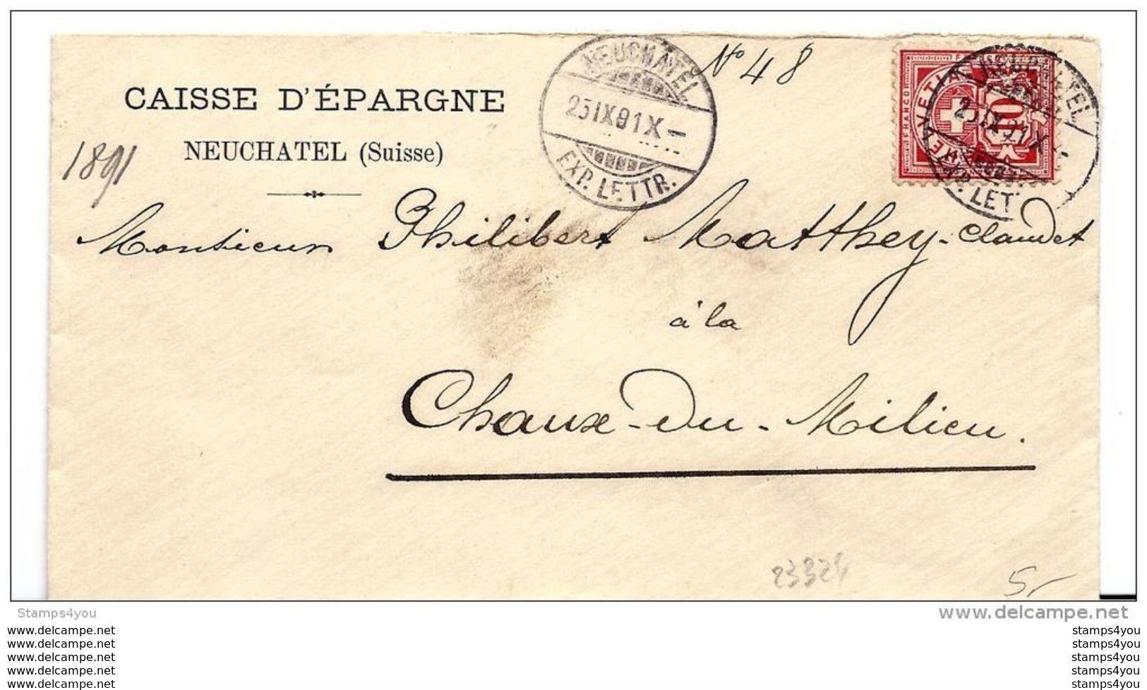 51 - 86- Enveloppe Envoyée De Neuchâtel 1901 - Covers & Documents