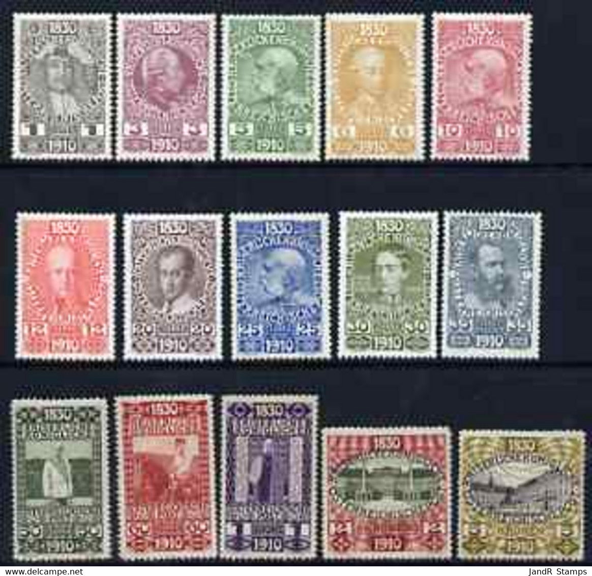 Austria 1910 Francis Joseph 80th Birthday Set To 5k (ex 2h) All Fresh Mounted Mint, SG 223-238 Cat £320 - Sin Clasificación